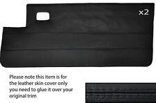 Negro Stitch 2x Completa Puerta Tarjeta Cuero Skin Tapa se ajusta Peugeot 205 Cj Cabrio