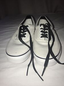 Vans Authentic White Lace Up Pumps Size 8