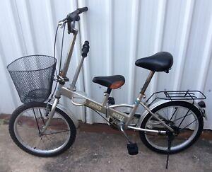 "Rare Vintage Bronx Bunny Folding 20"" Bike with Basket And Child Seat"