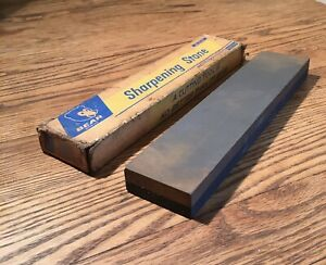 OLD USED VINTAGE TOOLS GIANT OIL FILLED SHARPENING HONING STONE NORTON KNIFE AXE