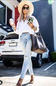 Women's Beau Hudson Blue Distressed Jeans - Size 12 - BNWT