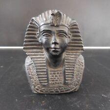 REPRODUCTION BUSTE ROI EGYPTIEN EN RESINE AVEC SIGNATURE