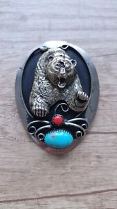 German Silver Genuine Turquoise- Handcrafted in the U.S