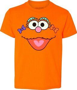 Inspired Sesame Street Face ZOE Characters Birthday Halloween family T-Shirts