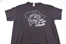 The Big Lebowski Take er Easy, Dude Brown T Shirt Sz XL The Stranger Sam Elliot