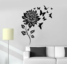 Vinyl Wall Decal Flower Butterfly Floral Room Decoration Art Stickers (ig3610)