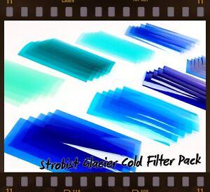 SPECIAL OFFER STROBIST PRO-GLACIER COLD COLOURED FILTERS FLASH PHOTOGRAPHY BTGOF