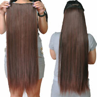 Full Head One Piece Clip In Remy Human Hair Extensions Hair pieces 100G 50CM