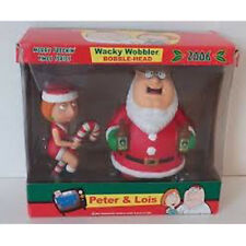 "Family Guy - Peter & Lois 7"" Xmas 2006 Wacky Wobbler/bobble Figure Set Funko"