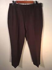 """Levis Action Slacks Vintage Mens Flat Front Pants Size 36 x 28"""" BrowN No Iron"""