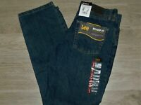 LEE Relaxed Fit Jeans Straight Leg At Waist Tomas Dark Blue Wash NWT Choose Size