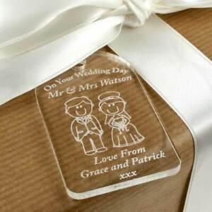 Engraved wedding gift scottish, traditional wedding gift tag. Mr & Mrs Gift Idea