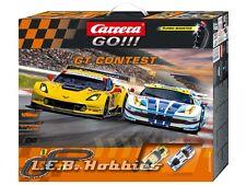 Carrera GO!!! GT Contest 1/43 analog slot car race set 62368