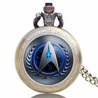 Star Trek United Federation Of Planets Quartz Pocket Watch Necklace Christmas US