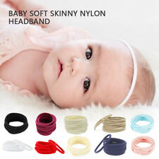 50PC Baby Soft Skinny Nylon Headband 1cm Elastic Hair Band DIY Hair Accessories