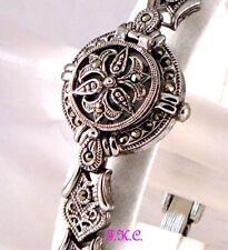 Women's Quartz (Battery) Sterling Silver Strap Round Watches