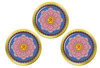 Lotus Fleur Mandala Bouddhisme Marqueurs de Balles de Golf