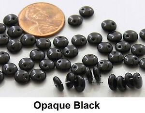 6mm Lentil Czech Glass Beads 50 Pcs Choose Color