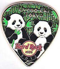 Hard Rock Cafe Tokyo UYENO-EKI 2012 PANDA Postcard Guitar Pick Series Pin LE300