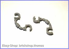 Lego 2 x Handschellen grau / Light Bluish Gray Handcuffs - 61482 - NEU / NEW