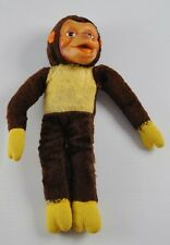Vintage Mohair Style Jointed Monkey Stuffed Animal 1965 AD Sutton & Sons  AA5B27
