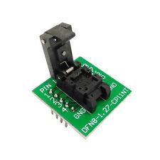 DFN8 WSON8 QFN8 Probe Test Socket MLP8 Pitch 1.27m IC size 6x5mm Adapter