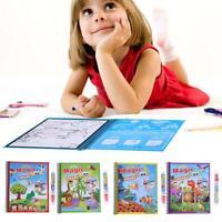 Wiederverwendung Wasserfarbe Malbuch Magic Doodle Stift Kinder Lernspielzeug HOT