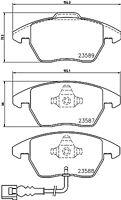Mintex Front Brake Box Pads + Discs Set MDK0220  - BRAND NEW - 5 YEAR WARRANTY