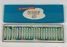 Vintage Artista Oil Pastels 24 Vivid Colors in Original Box Made in Usa