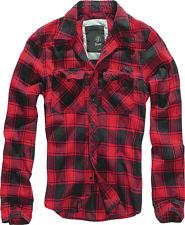 Chemise Brandit Check shirt flanelle a Carreaux Manche longue Noir et Rouge 2xl