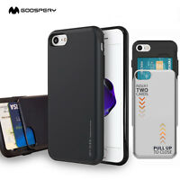 GOOSPERY® Heavy Duty Dual Layer 2-Card Case Cover for Apple iPhone X /8 Plus / 7