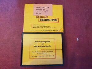 Vintage Kodacraft Printing Frame and Printing Mask Set 4 1/4 × 5 1/2 Inch Paper