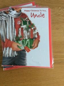 Happy Christmas To You Uncle. Quality Christmas Card With Lovely Words. Code 50