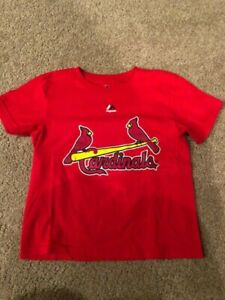 St. Louis Cardinals Yadier Molina Youth Child T-Shirt Medium 5/6 New