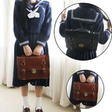 Japanese JK Uniform Shoulder bag Vintage School book bag Backpack PU Handbag