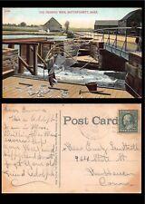 Vtg 1909 Postcard Herring Weir Fisherman Mattapoisett Massachusetts Ma Boats