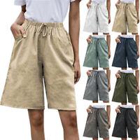 Summer Women Drawstring Shorts Loose Casual Wide Leg Half Pants Bermuda shorts