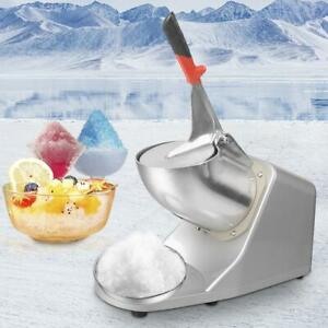 143lbs 300W Stainless Steel Electric Ice Crusher Shaver Machine Snow Shaved Ice