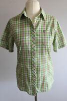 Schöffel Damen Bluse Gr.40-L grün-weiß gestreift
