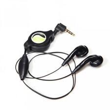 RETRACTABLE HEADSET HANDS-FREE EARBUDS EARPHONES w MICROPHONE for SMARTPHONES
