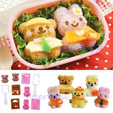 Bear Rabbit Shape Rice Ball Onigiri Bento Mold Punch Mould DIY Tools Sushi Maker