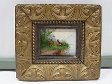 Huile Tableau/ fasanan/ FAISANS/ HUILE SUR BOIS /signé/ um 1910