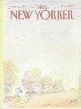 COVER ONLY ~The New Yorker magazine June 6 1983 Sempé Sempe ~ Saxophone Sunrise