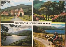 Irish Postcard MUCKROSS HOUSE Multiview Killarney Ireland John Hinde 2/592