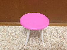 Barbie Doll Decor Collection Kitchen Round Pink Dining Table House Furniture