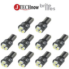 Jtec 10x T5 3 SMD LED White Instrument Panel Dash Light Bulb 74 17 18 37 70 2721