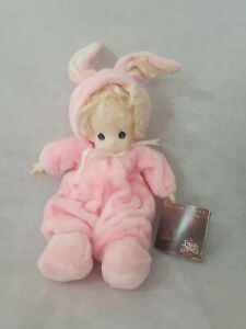 2001 Precious Moments Collection Heather Doll Pink Bunny Rabbit Suit Costume 16""