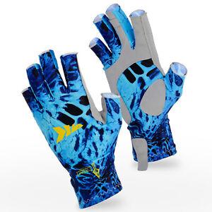 KastKing Sol Armis UPF50 Fingerless Gloves Sun Fishing Gloves for Men & Women US