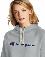 Champion Sweatshirt Hoodie Women's Powerblend Fleece Pullover Script Logo Scuba