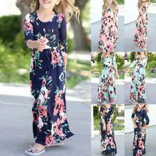 Kids Girls Long Sleeve Floral Maxi Dress Inafant Outfit Holiday Party Dresses
